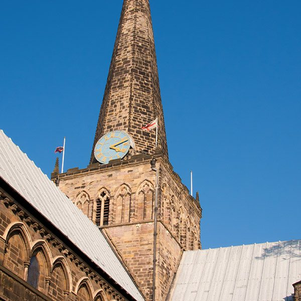 St. Cuthberts church spire in Darlington