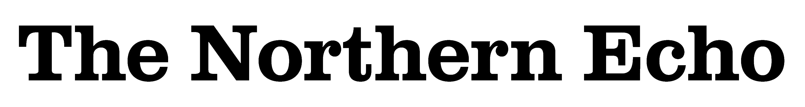 The Northern Echo Newspaper Logo, Black Font