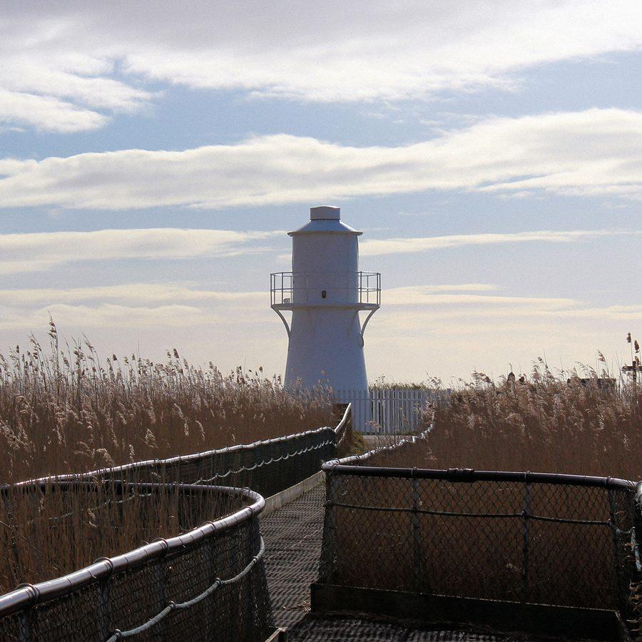 Image of East Usk lighthouse at Newport Wetlands