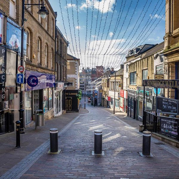 Street scene of Bradford city centre